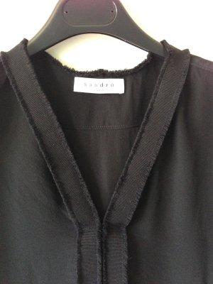 Bluse aus Seide schwarz edel Luxus Designer