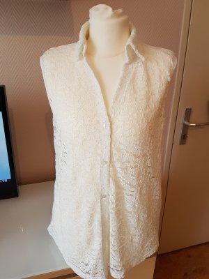 Bluse aus Spitze weiß Gr. XS