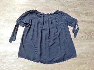 Bluse aus Venedig off shoulder dunkelblau blau