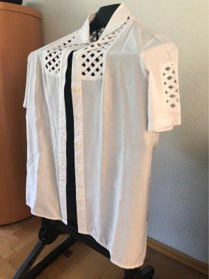 Alba Moda Short Sleeved Blouse white-natural white