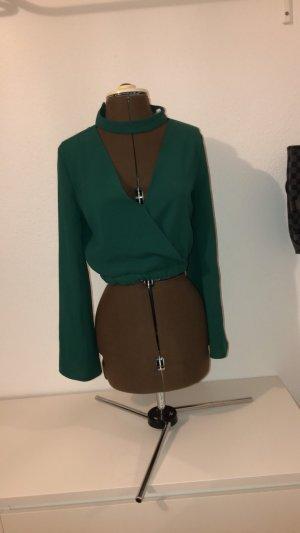 Zara Blouse inzetstuk groen