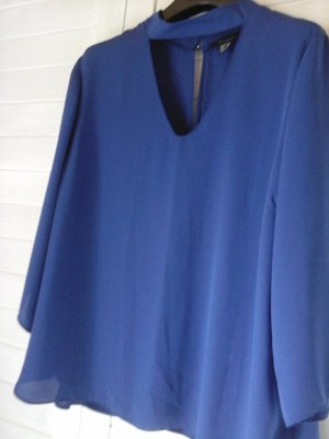bluse Azur- blau- ton