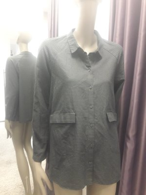 COS Checked Blouse anthracite-dark blue