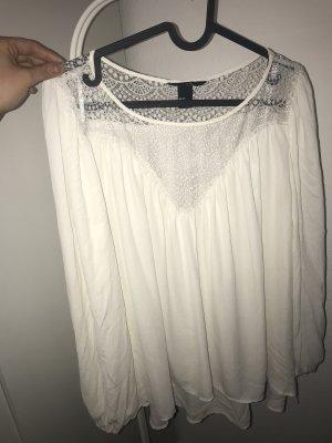 H&M Blouse oversized blanc