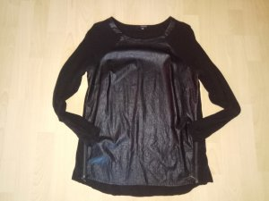 Blouse en cuir noir