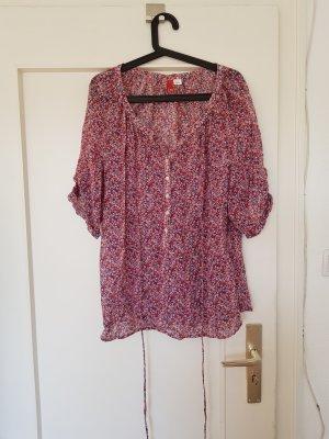 H&M Blusa transparente multicolor