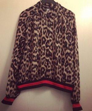 Amisu Blusa-camisa marrón-negro