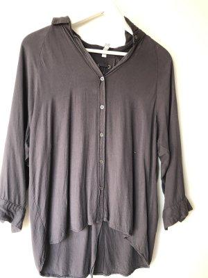 Amisu Cuello de blusa gris oscuro
