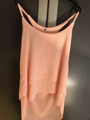 Mouwloze blouse abrikoos