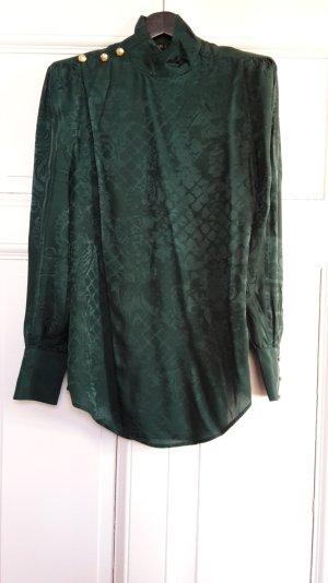 Bluse Balmain X H&M dunkelgrün