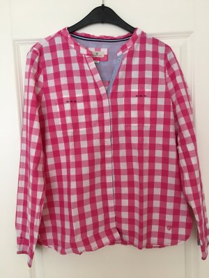 Basefield Checked Blouse white-pink cotton