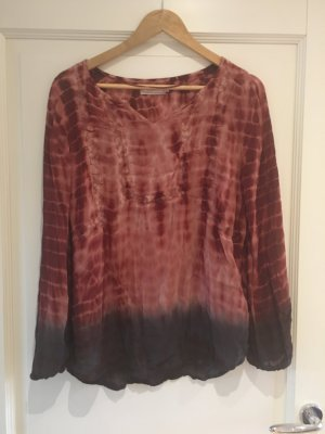 Cream Crash Blouse brown red