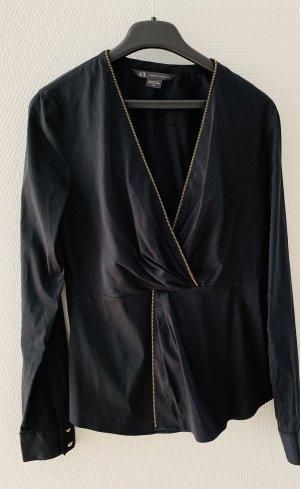 Armani Exchange Camicetta a maniche lunghe nero Cotone