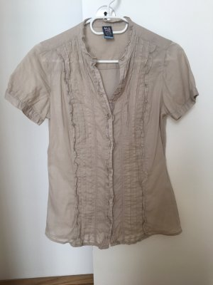 Bluse beige in Gr. M von Zara Basics Garments TRF Collection