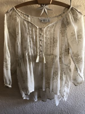 Abercrombie & Fitch Transparante blouse room-goud