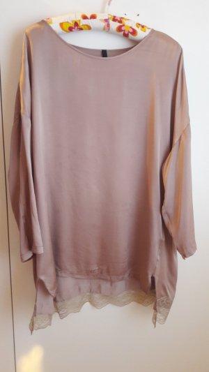 Benetton Blusa de túnica color rosa dorado Poliéster