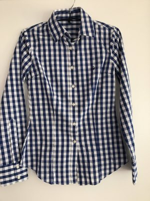 Benetton Blouse wit-blauw