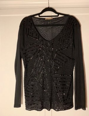 Dickey (for blouse) black-silver-colored