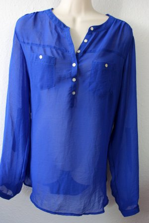 Atmosphere Transparent Blouse blue polyester