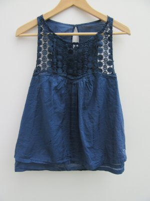 Abercrombie & Fitch Sleeveless Blouse dark blue