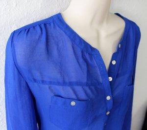 Bluse, blau
