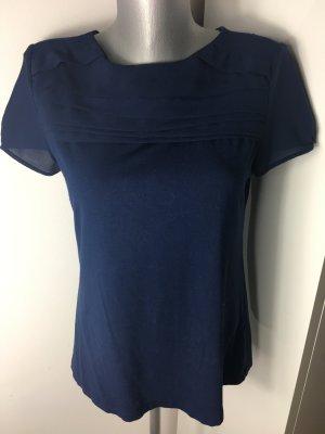 Bluse blau Baumwolle
