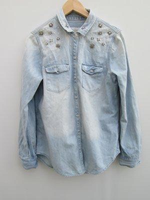 Bluse blau Damen Jeans Abercrombie & Fitch Gr. M