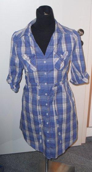 Bluse blau kariert von H&M