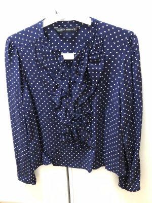 Bluse blau Weiß gepunktet