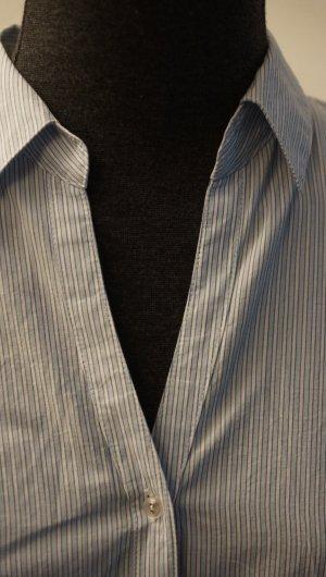 Bluse blau-weiß gestreift, Gr. 34