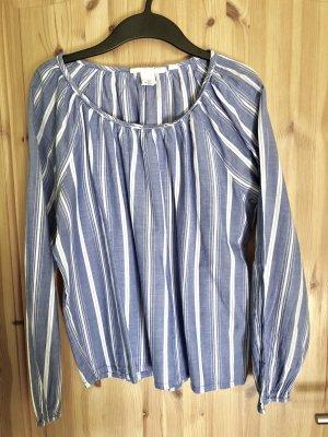 Bluse blau-weiß gestreift H&M