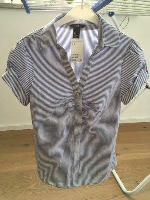 Bluse blau-weiß gestreift von H&M