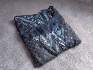 Bluse Blautöne Grautöne Vero Moda Gr. 36 w. Neu