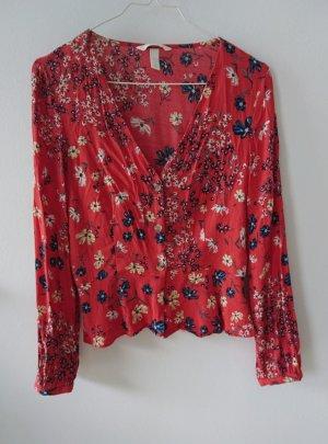 H&M Blusa alla Carmen multicolore Viscosa