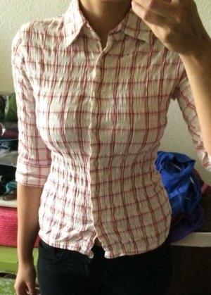 Bluse / Bluse karo rot / weiß von H&M / Basic / Only L.O.G.G. Größe 36