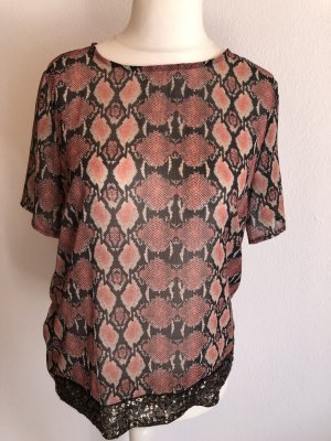 Bluse Blusenshirt locker Animal Print Gr. M