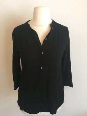 Bluse Blusenshirt Shirt locker schwarz Basic Gr. 38