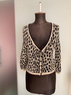 Bluse Bolero Jacke Gr 38 M von Twin set , Leoparden Muster