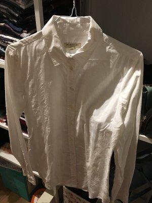 Bluse Burberry weiß Karo kariert 36 S Hemd Original