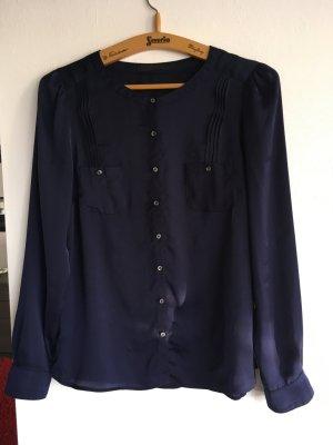 Bluse Business SET dunkelblau Gr. 40 L Hemd Top Shirts