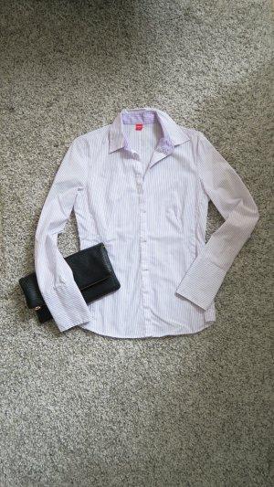 Bluse Businessbluse - weiß lila gestreift