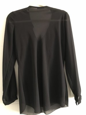 Made in Italy Ruffled Blouse black