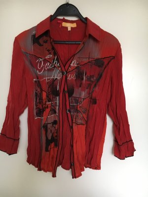 Biba Blouse en crash rouge carmin