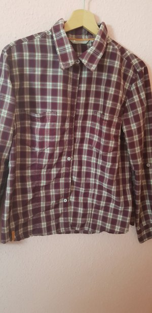 hickory Checked Blouse bordeaux-brown red
