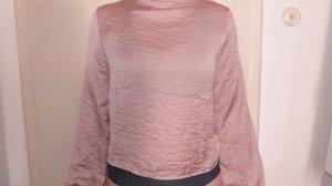 Bershka Splendor Blouse rose-gold-coloured-pink