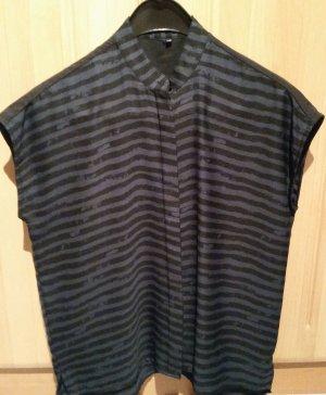 Blusa ancha negro-azul oscuro
