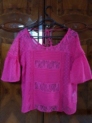 New Look Kanten blouse roze