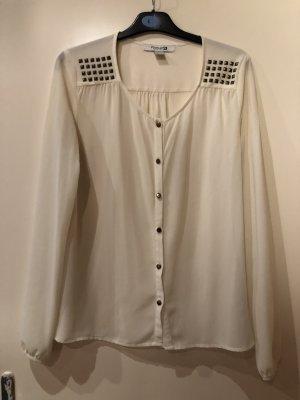 Forever 21 Blusa ancha blanco