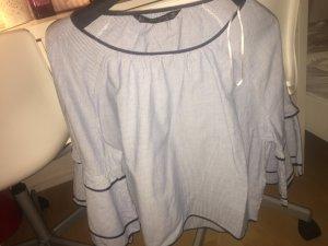 Zara Basic Blusa de manga larga multicolor
