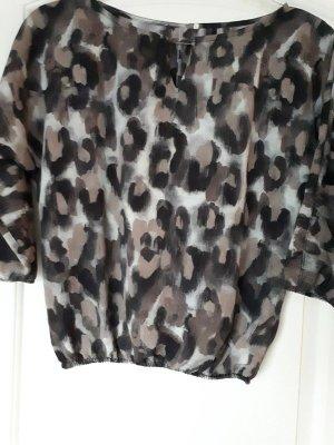 Slip-over blouse zwart